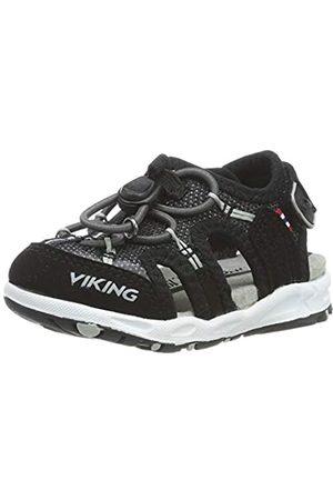 Viking Viking Unisex-Kinder Thrill II Geschlossene Sandalen, Schwarz (Black/Grey 203)