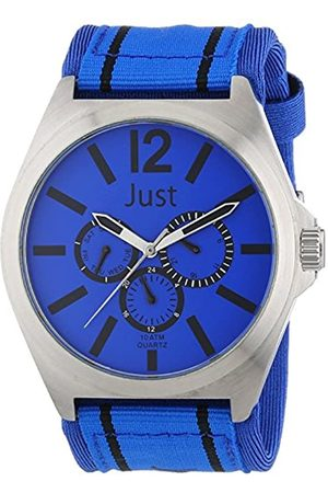 Just Watches Just Watches Herren-Armbanduhr XL Analog Quarz Textil 48-S3927-Bl