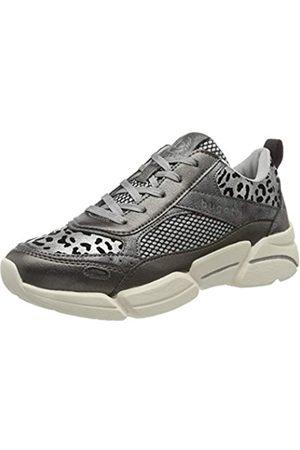 Bugatti Damen 432668035050 Slip On Sneaker, (Dark Grey/Animal Print 1182)