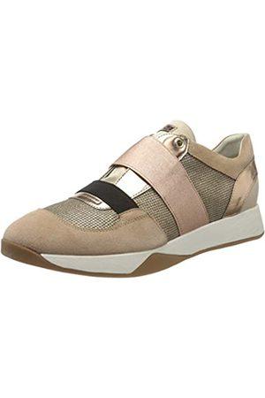 Geox Geox Damen D SUZZIE D Slip On Sneaker, Grau (Lt Grey/Black C0060)