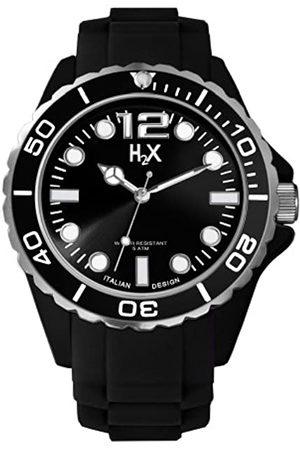 Haurex Herren Analog Quarz Uhr mit Gummi Armband SN382UN1