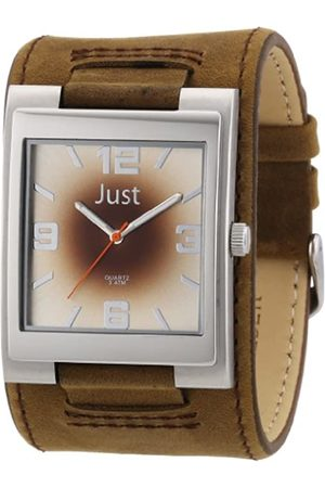 Just Watches Just Watches Herren-Armbanduhr XL Analog Leder 48-S2765-BR