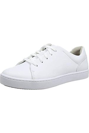 Clarks Clarks Damen Pawley Springs Sneaker, Weiß (White Leather White Leather)