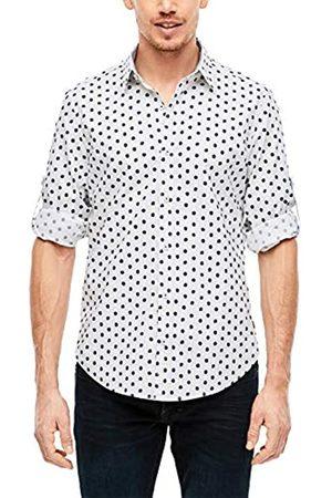 s.Oliver S.Oliver RED LABEL Herren Slim: Gemustertes Stretchhemd white AOP dots M
