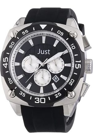 Just Watches Just Watches Herren-Armbanduhr XL Analog Quarz Kautschuk 48-STG2373-BK