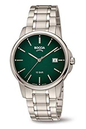 Boccia Boccia Herren Analog Quarz Uhr mit Titan Armband 3633-05