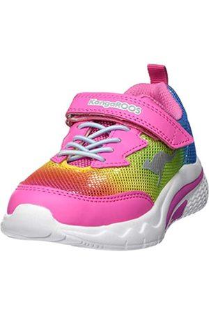 KangaROOS KangaROOS Unisex-Kinder KK EV Sneaker, Rot (Daisy Pink/Rainbow 6183)