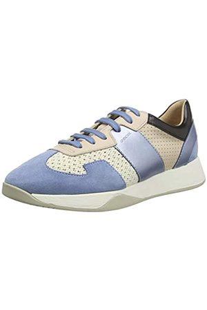 Geox Geox Damen D SUZZIE B Sneaker, Elfenbein (Off White/Lt Blue C0160)