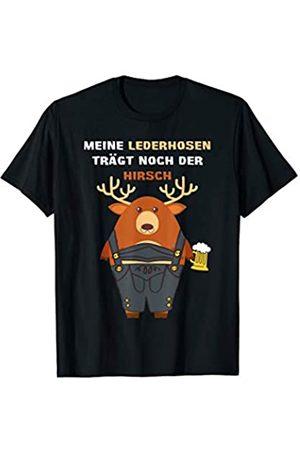 "Oktoberfest Sauf Shirts ""Meine Lederhosen trägt noch der Hirsch"" - Oktoberfest Wiesn T-Shirt"