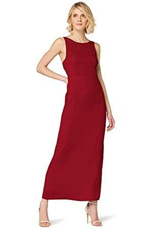 TRUTH & FABLE Amazon-Marke: TRUTH & FABLE Damen Maxi A-Linien-Kleid aus Satin, 42