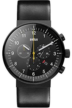 von Braun Braun Herren Analog Quarz Uhr mit Leder Armband BN0095BKG