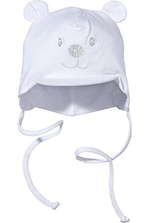 Sterntaler Sterntaler Unisex Schirmmütze mit Bindebändern, Nackenschutz und niedlichem Bärchen-Motiv, Alter: 1-2 Monate, Größe: 35