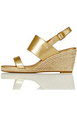 FIND Amazon-Marke: find. Wedge Two Part Espadrilles, Gold (Gold)