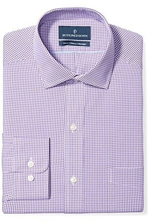 Buttoned Down Buttoned Down Classic Fit Spread Collar Pattern Smoking Hemd, purple small gingham
