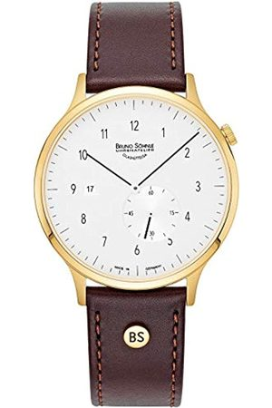 Soehnle Bruno Söhnle Herren Analog Quarz Uhr mit Echtes Leder Armband 17-33212-261