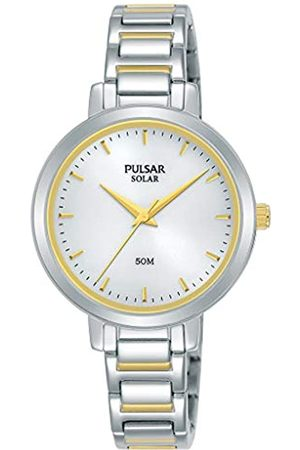 Pulsar Damen Uhren - Solar Damen-Uhr Edelstahl mit Metallband PY5073X1