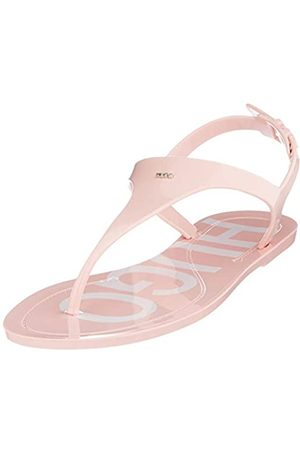HUGO BOSS Mädchen Emma Flat Slingback Sandalen, Pink (Light/Pastel Pink 681)