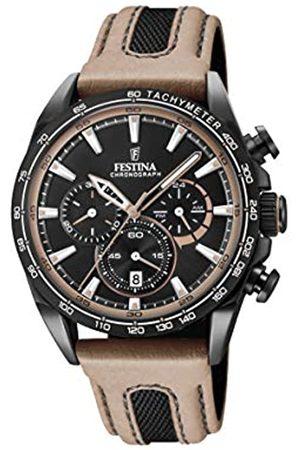 Festina Festina Unisex Erwachsene Chronograph Quarz Smart Watch Armbanduhr mit Leder Armband F20351/1