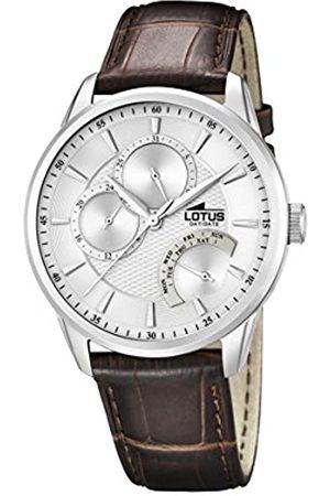 Lotus Lotus Herren Analoger Quarz Uhr mit Echtes Leder Armband 15974/1
