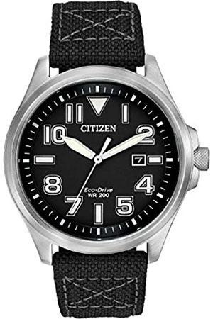 Citizen Citizen Herren Analog Solar Uhr mit Textil Armband AW1410-08E