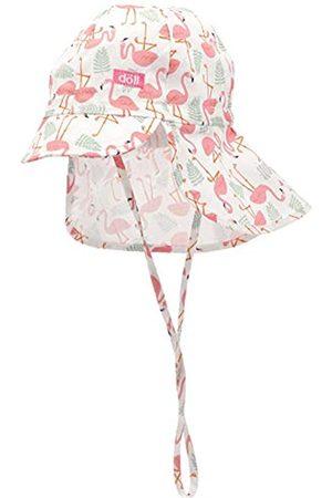 Döll Döll Baby-Mädchen Bindemütze mit Schirm und Nackenschutz Mütze|