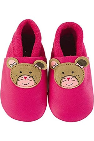 Sterntaler Sterntaler Mädchen Baby-Krabbelschuh Leder Flache Hausschuhe, Pink (Magenta 745)