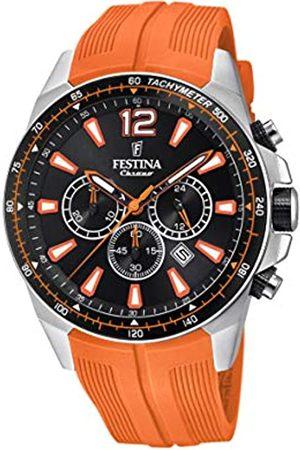 Festina Festina Herren Chronograph Quarz Smart Watch Armbanduhr mit PU Armband F20376/5