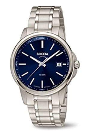 Boccia Boccia Herren Analog Quarz Uhr mit Edelstahl Armband 3633-04