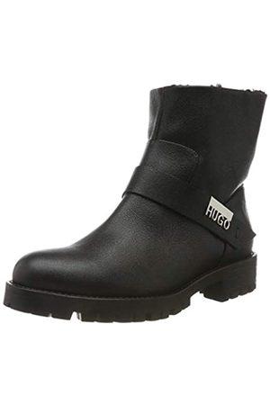 HUGO BOSS HUGO Victoria Biker-C, Damen Biker Boots, Schwarz (Black 001)