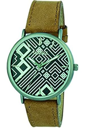 Snooz Snooz Herren Analog Quarz Uhr mit Leder Armband Saa1041-83