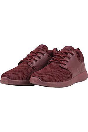Urban classics Urban Classics Damen und Herren Light Runner Shoe, Low-Top Sneaker für Damen und Herren, Sportschuhe mit Schnürung, Burgundy
