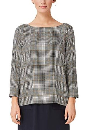 s.Oliver S.Oliver RED LABEL Damen Twillbluse mit Hahnentritt-Muster yellow AOP 42