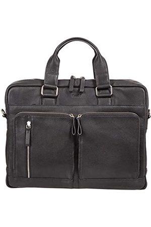 Alassio Alassio 47032 - Aktentasche Campo, Laptoptasche für 15 Zoll Notebooks, Umhängetasche aus Echtleder, Tasche mit gepolstertem Laptopfach und 2 Reißverschluss Hauptfächer in