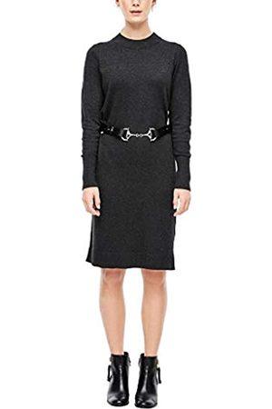 s.Oliver S.Oliver RED Label Damen Strickkleid mit geripptem Kragen 38