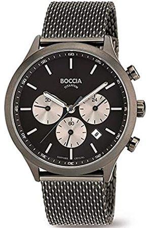 Boccia Boccia Herren Chronograph Quarz Uhr mit Edelstahl Armband 3750-06