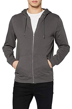 Urban classics Urban Classics Mens Sweat-Jacke Basic Kapuzen-Pullover Terry Zip Hoodie Hooded Sweatshirt
