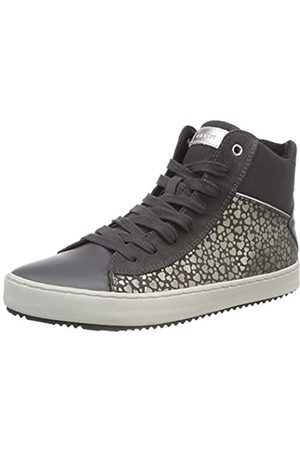 Geox Geox Mädchen J Kalispera Girl D Hohe Sneaker, Grau (Dk Grey C9002)