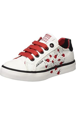 Geox Geox Mädchen JR CIAK Girl E Sneaker, Weiß (White/Red)