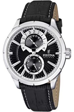 Festina Festina Herren Analog Quarz Uhr mit Leder Armband F16573/3