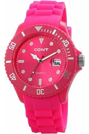 CONT CONT Herren-Armbanduhr XL Analog Quarz Silikon RP3458560004