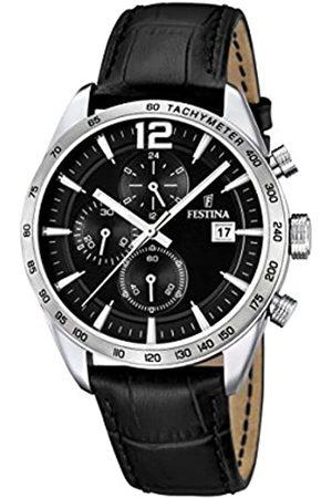 Festina Festina Herren Chronograph Quarz Uhr mit Leder Armband F16760/4