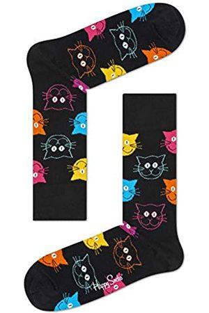 Happy Socks Damen Freizeitsocken Cat Sock, Mehrfarbig (Mehrfarbig 9001)