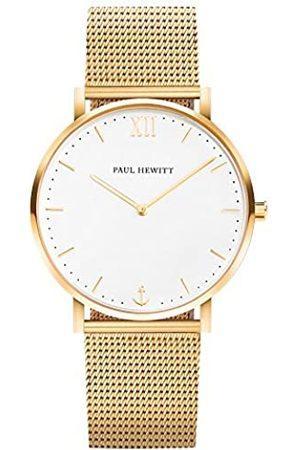 Paul Hewitt PAUL HEWITT Armbanduhr Edelstahl Sailor Line White Sand (Damen und Herren) - Uhr mit Edelstahlarmband (Gold), Goldene Armbanduhr