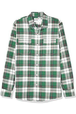 Goodthreads Herren Longsleeves - Amazon-Marke: Herrenhemd, Langarm, kariert, aus Twill, schmale Passform