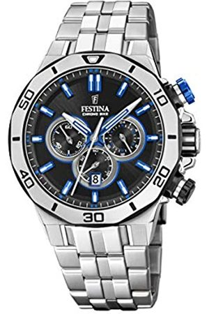 Festina Festina Unisex Erwachsene Chronograph Quarz Uhr mit Edelstahl Armband F20448/5
