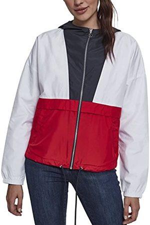 Urban classics Urban Classics Damen Jacke Übergangsjacke Ladies 3-Tone Oversize Windbreaker - Farbe navy/white/fire red