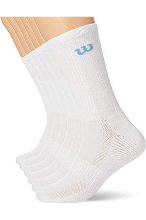 Wilson Herren Crew Socken (6er Pack), Weiss