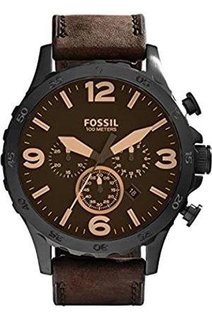 Fossil Fossil Herren Analog Quarz Uhr mit Leder Armband JR1487