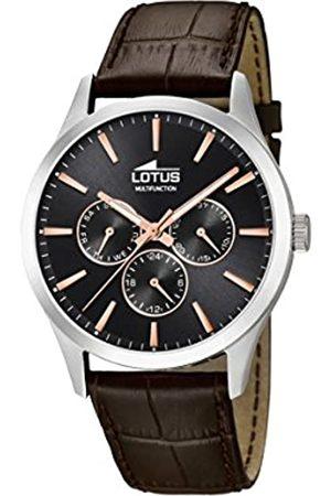 Lotus Lotus Herren Analoger Quarz Uhr mit Echtes Leder Armband 18576/7