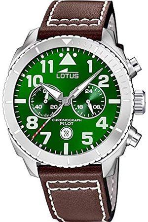 Lotus Lotus Herren Analog Quarz Uhr mit Echtes Leder Armband 18705/2